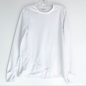 ATHLETA White Pullover Sweatshirt